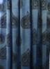 Light blue bohemian window curtains
