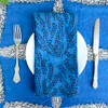 navy blue blockprinted napkins