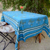 light indigo blue tablecloth