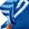 indigo blue square scarf
