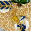 Yan - Mustard Blockprint Tablecloth
