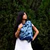 navy blue printed scarf