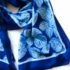indigo blue block printed scarf