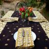 Golden Polka Table Runner