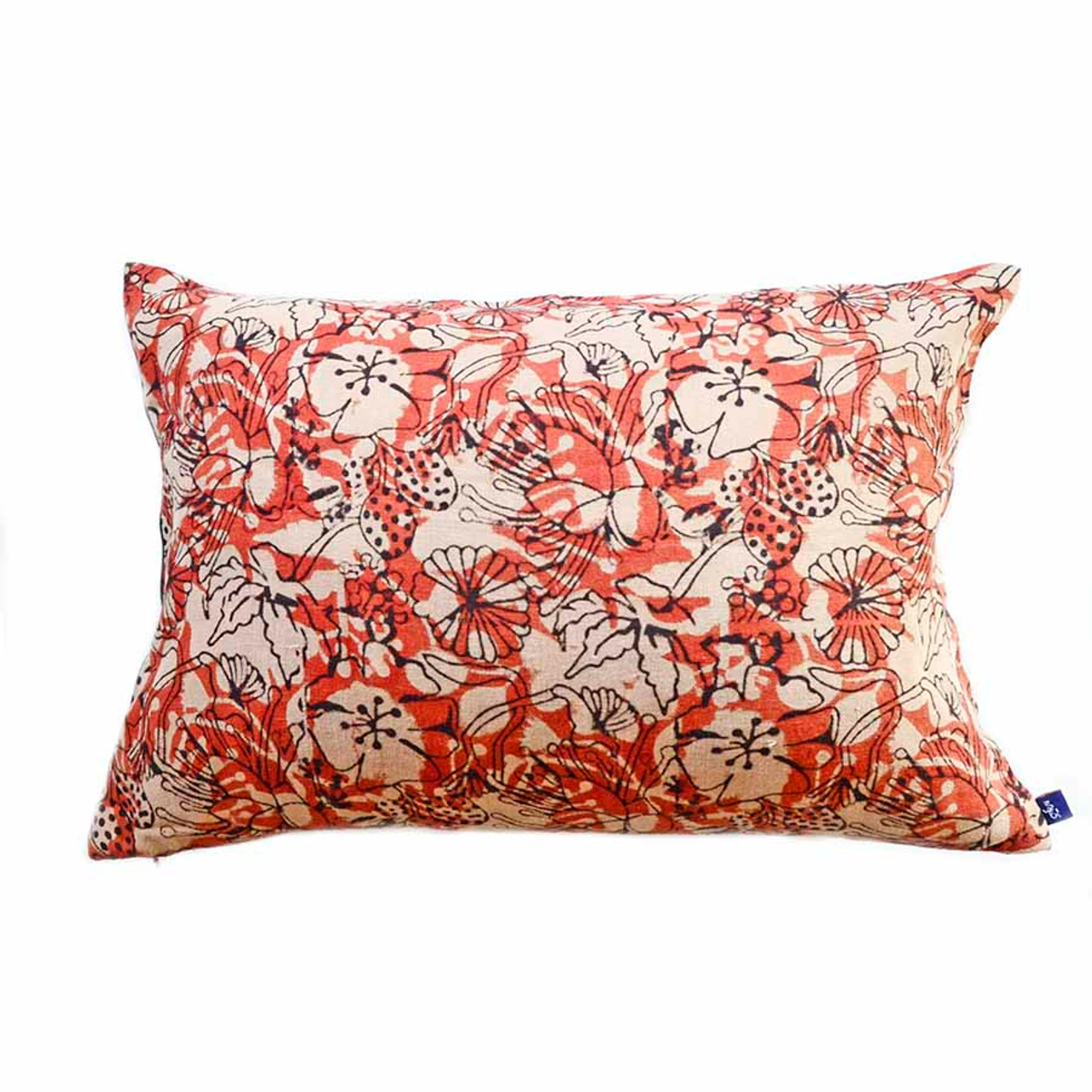 Picture of: Block Print Pillows Coral Pillow Ichcha