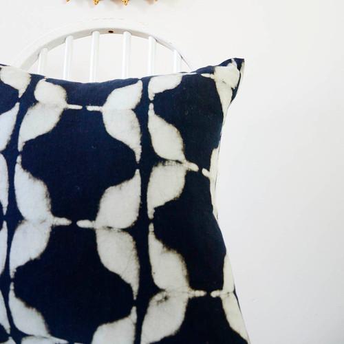 indigo blue cushion