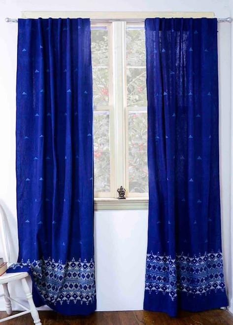 indigo curtains