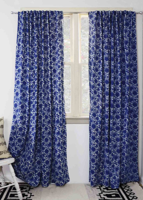 hand printed indian curtains