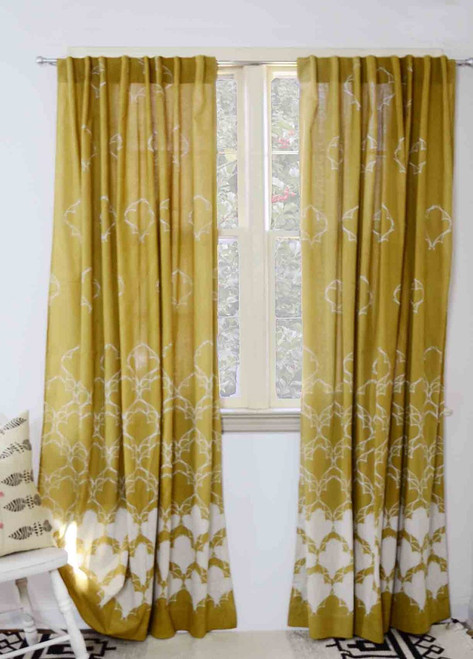 Diya - mustard yellow curtains