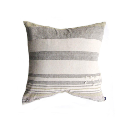 grey white stripe pillow