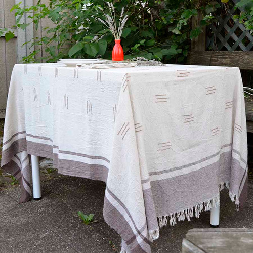 organic cotton woven table cloth