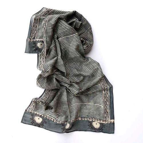steel grey scarf