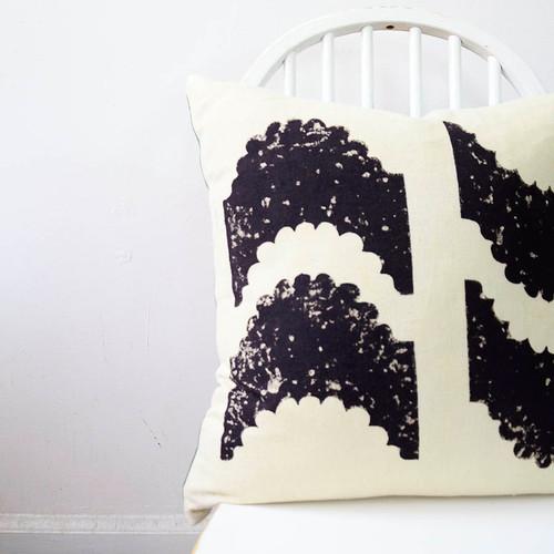 reversible block print pillow