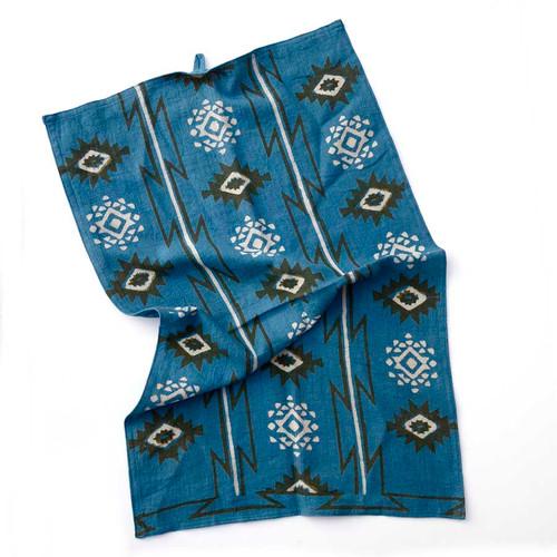 light blue organic cotton tea towel