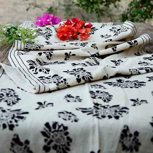 block print table runner