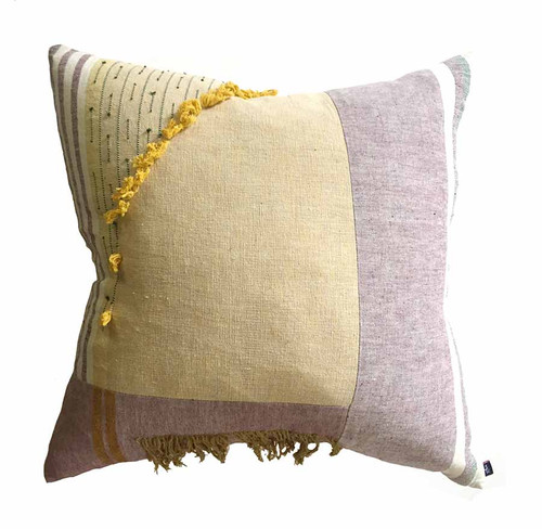 22 inch yellow throw pillow for couch