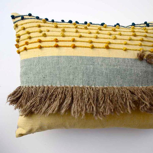 textural oblong throw pillow