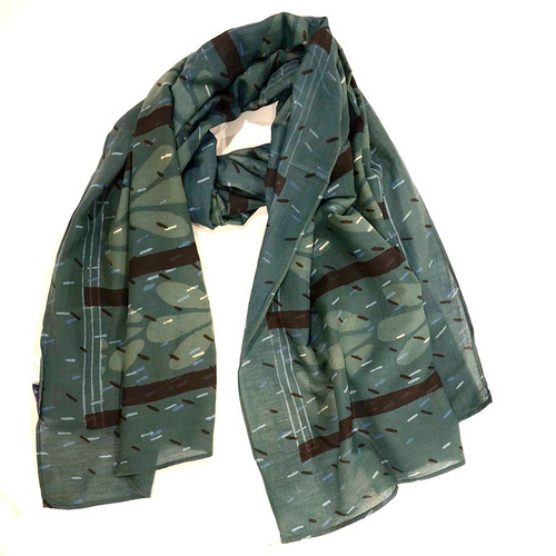 large green eco friendly scarf