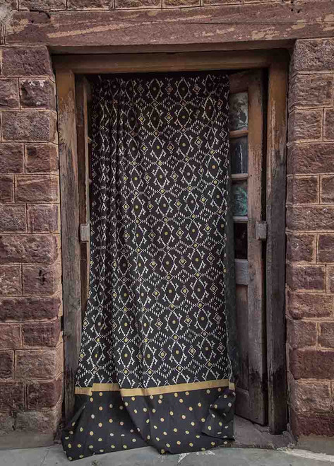 black and gold Moroccan curtains