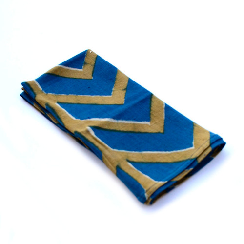 indigo blue cotton napkins