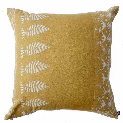 Mustard Yellow zero waste pillow
