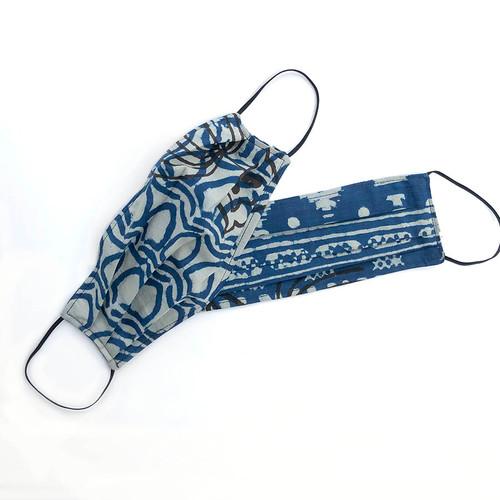 indigo blue facemask