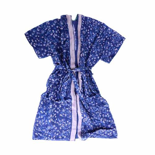 blue light kimono robe