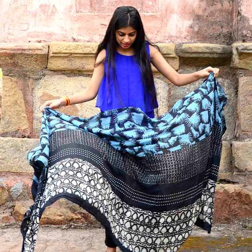 ichcha-blue-block-print-scarf