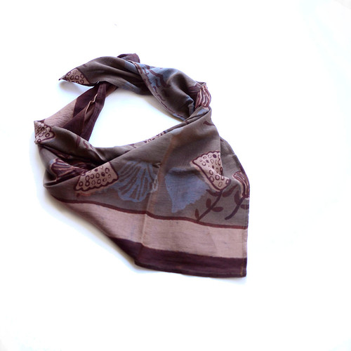 brown copper square scarf