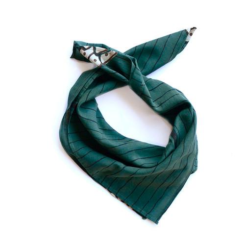 dark green head wrap
