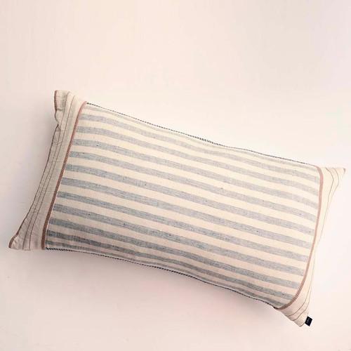 striped lumbar pillow