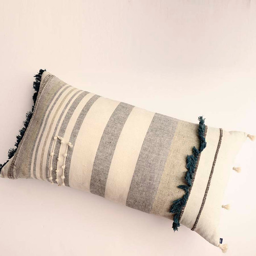 textured long oblong pillow
