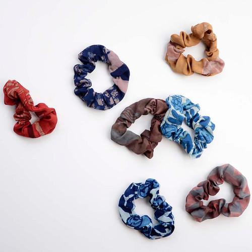 hand printed scrunchies
