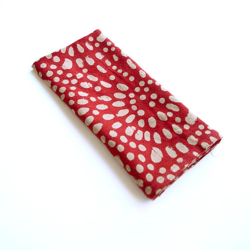organic cotton red napkins