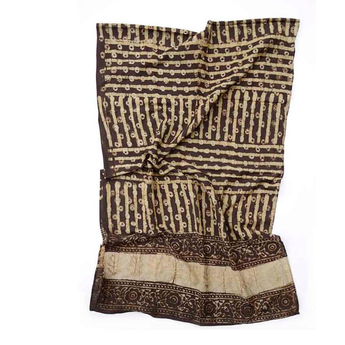 brown silk scarf