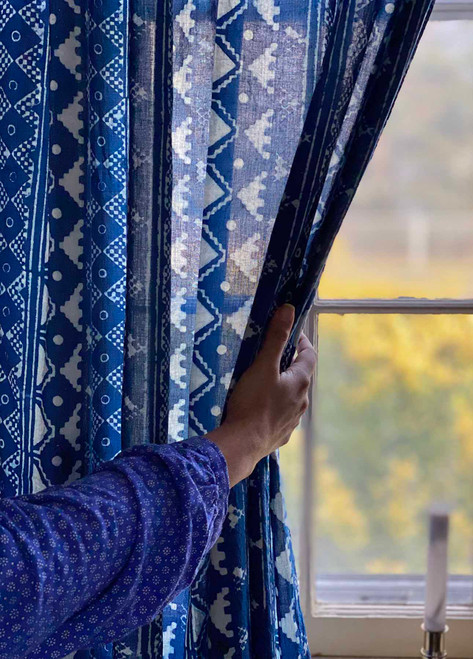 Indigo Bohemian Curtains