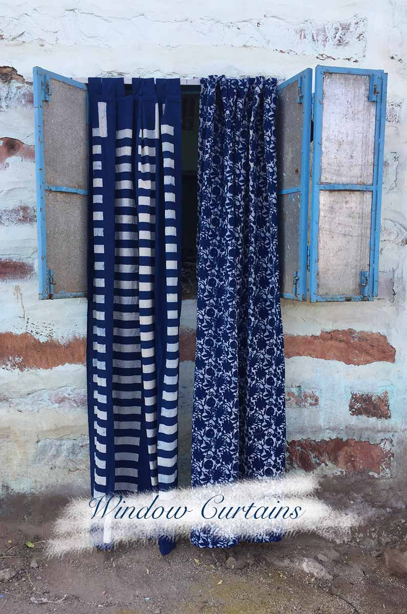 Bohemian Block Print Curtains