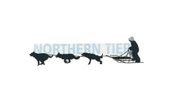 Sticker. Dog Sled