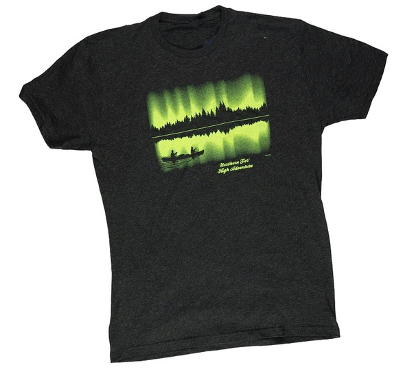 T-Shirt. Green Northern Lights