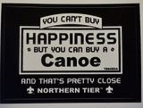 Sticker. Happiness Canoe