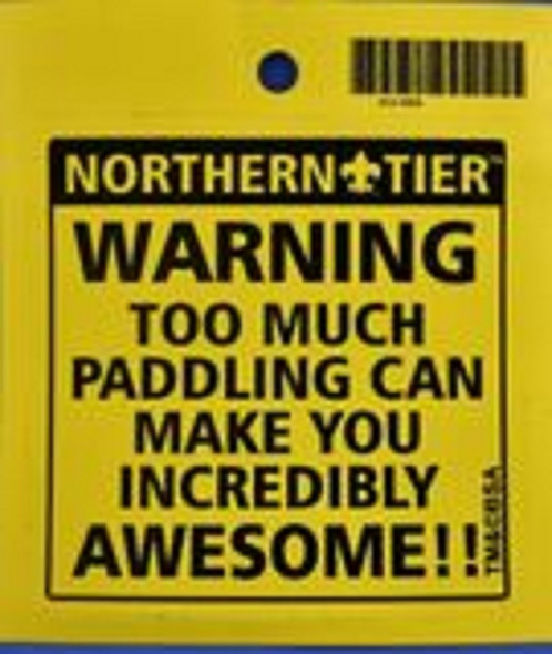 Sticker. Warning. Awesome