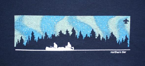 T-Shirt. N Lights Canoe