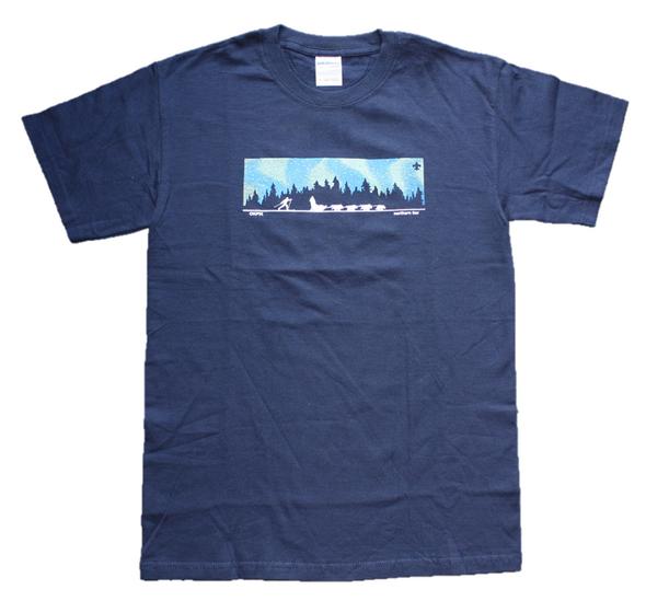 T-Shirt. N Lights Dog Sled