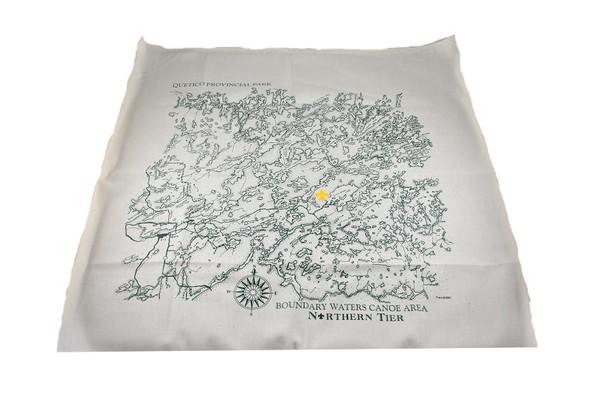 Bandana. Quetico Bwcaw Map
