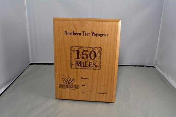 Plaque. Voyageur 150 Miles