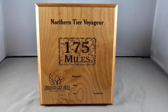 Plaque. Voyageur 175 Miles