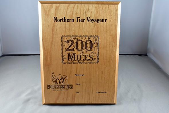 Plaque. Voyageur 200 Miles