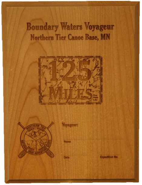 Plaque. Voyageur 125 Miles