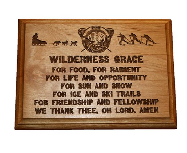 Plaque. Wilderness Grace. Okpi