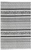 2' x 3' Rug White and Black Batik Pattern Printed Cotton Small Rug, Carpet or Mat